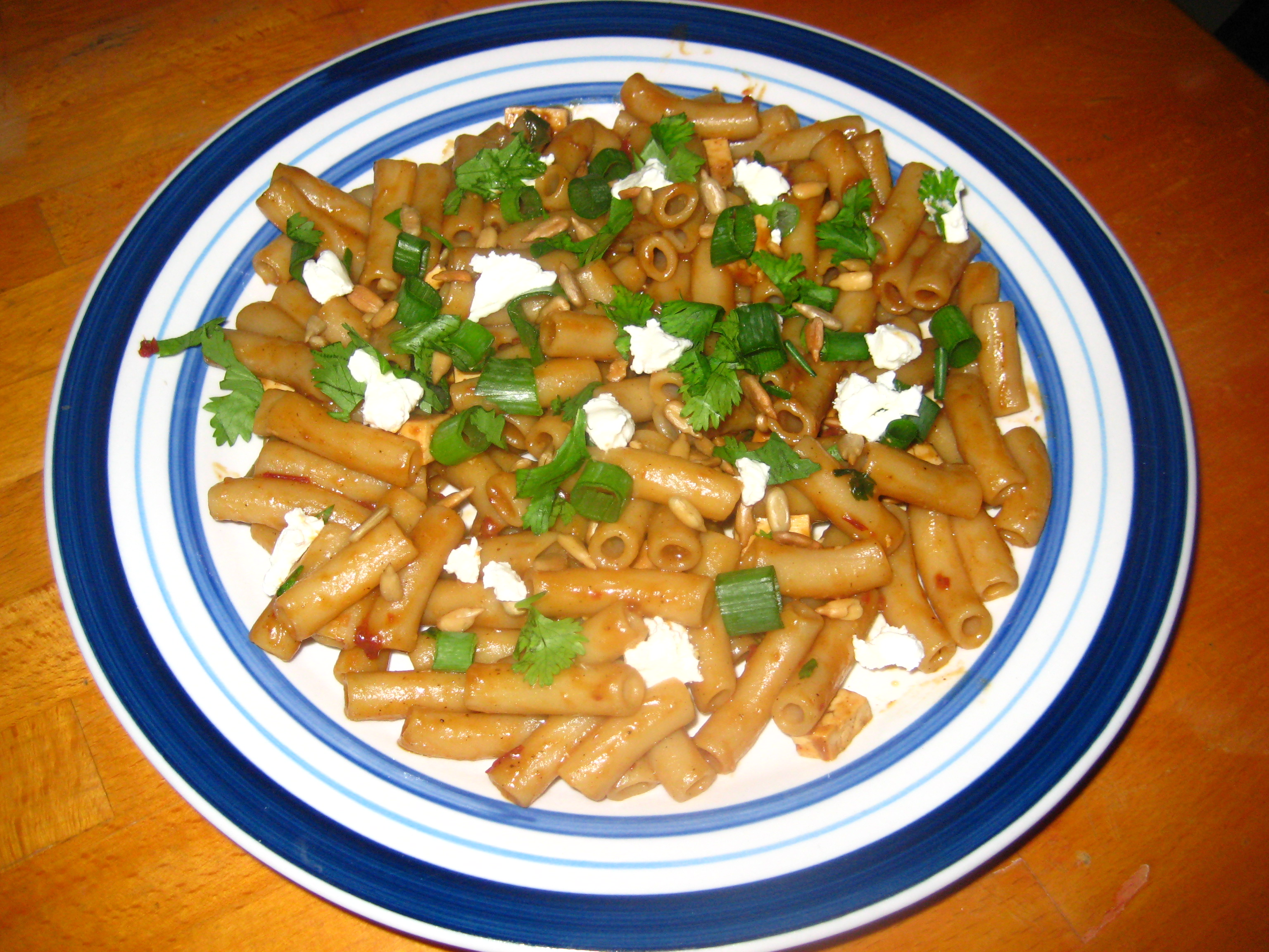 Southewestern Pasta with Chipotle Lime sauce, Goat Cheese and Fresh Cilantro